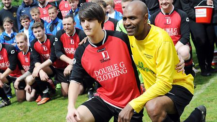 Scenes from the Red Wellies charity football match at The Walks in King's Lynn in memory of Lisa Wil