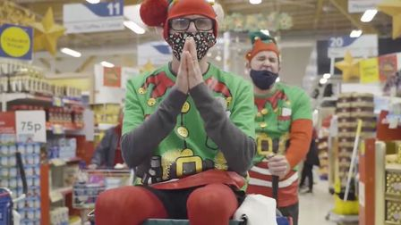 Staff at Tesco Extra in Newmarket recorded a Band Aid Do They Know Its Christmas cover to promote their foodbank collection.