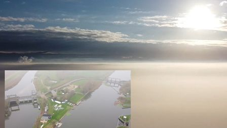 Ferdinand Pick has been able to capture blue skies above the Fenland mist at Denver Sluice using his drone. Pictures...