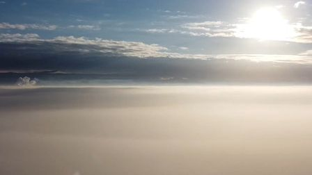 Ferdinand Pick has been able to capture blue skies above the Fenland mist at Denver Sluice using his drone. In the...