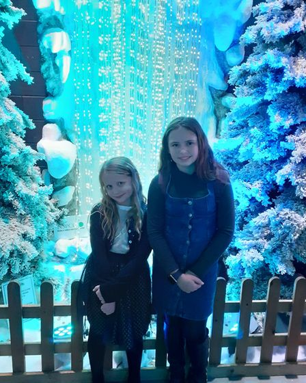 Brooke and Lily-Mai getting into the festive spirit
