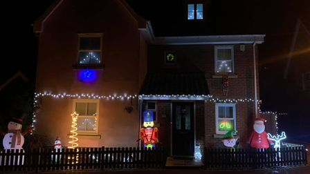 Catherine Gost covered her home in Christmas lights and decorations to spread some festive cheer