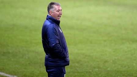 Peterborough United manager Darren Ferguson during the FA Cup second round match at the Weston Homes