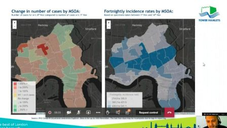 The committee was shown the areas which still have high numbers of Covid cases.