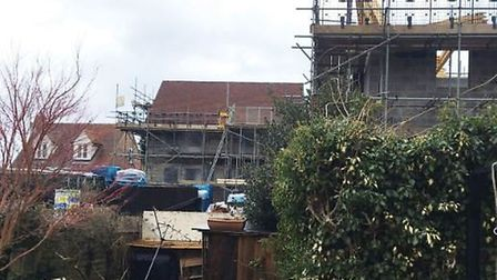 The new houses in Cuckoo Hill in Bures which have sparked anger amongst residents Picture: JAMES FREWIN