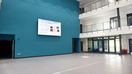 Inside the new Stowmarket High School complex Picture: CHARLOTTE BOND