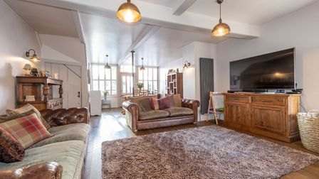 This four-bedroom house is for sale on Hadleigh high street at a guide price of £575,000. Picture: Chapman Stickels