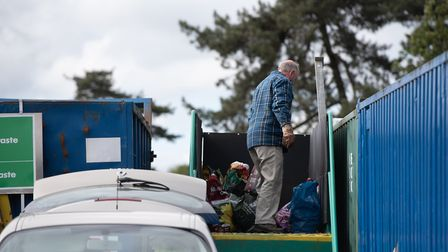 Suffolk County Council introduced booking slots for the re-opening of recycling centres and rubbish tips in May. Picture...