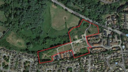 Land on the former Hardwick Industrial Estate, Bury St Edmunds, where the second phase of 66 homes will be built. Picture:...