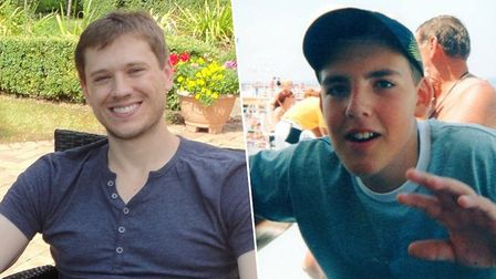 Richard Wade, who died in 2015 aged 30, and Matthew Leahy, who died in 2012 aged 20 Picture: SUPPLIED BY FAMILY
