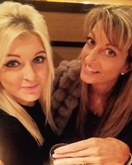 Claire Danks (right) with daughter Lauren Picture: SUPPLIED BY FAMILY
