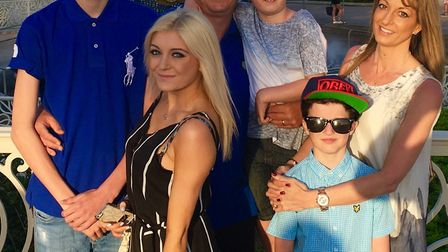 Lauren Danks with her mum Claire, father Robert, and brothers Kieran, Bobby and Jayden Picture: SUPPLIED BY FAMILY
