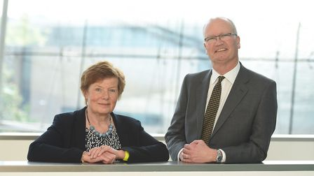 Mary Evans and Matthew Hicks, deputy and leader at Suffolk Council Council. Picture: GREGG BROWN