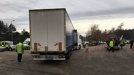 Suffolk police carried out a day of action, clamping down on crime groups and fatal four driving offences. Picture...