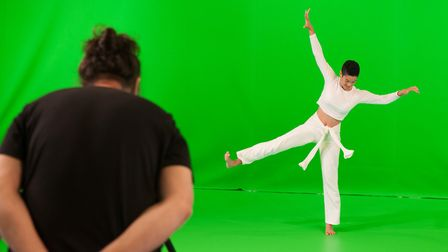 Capturing a virtual dance performance in the new 'green screen' studio inside the Jerwood DanceHouse Picture: Chris Nash