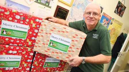 Stowmarket and Area Foodbank manager Mike Smith said volunteers were working hard to meet demand Picture: GREGG BROWN