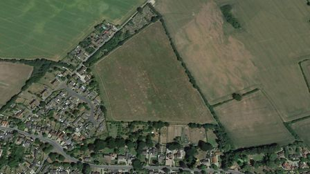 Up to 100 homes could be built on the land in Acton Picture: GOOGLE EARTH