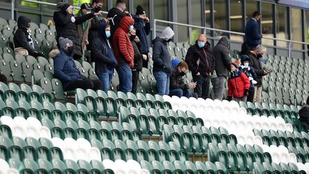 Fans back in the ground at Plymouth Argyle Picture Pagepix Ltd
