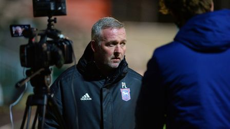 Paul Lambert is interviewed after the game at Plymouth Argyle, his 100th in charge of the club. Picture Pagepix Ltd