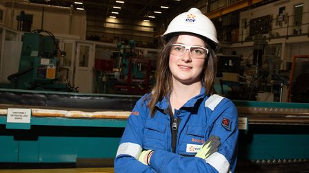 Beth Gant who began her career as an apprentice at Sizewell B Picture: SARAH LUCY BROWN