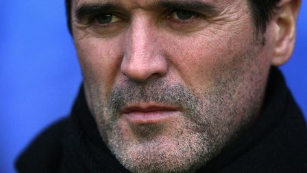 The hint of a beard: Roy Keane starts to display the unshaven look again, during his latter days at Portman Road. Picture: PA