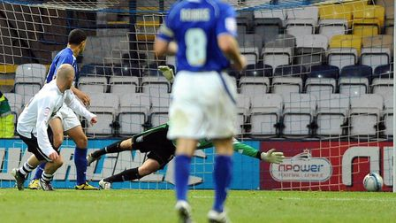 Iain Hume scores Preston's winner against Ipswich in a 1-0 victory at Deepdale, from 10 years ago. Picture: PAGEPIX