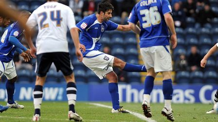 Rory Fallon fires in a shot during his full debut for Ipswich, in a 1-0 defeat at Preston from 10 years ago. Picture: PAGEPIX