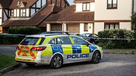 A police cordon in place following the scene of the shooting in Kesgrave earlier this year. Picture: SARAH LUCY BROWN