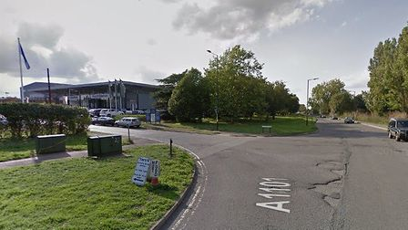 A cyclist has been injured following a collision in Bury St Edmunds Picture: GOOGLE MAPS