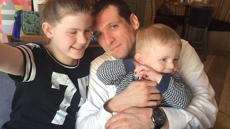 Adrian adored his niece Katelyn and nephew Donnie, children of his sister Julia, and said they were his world. Picture...