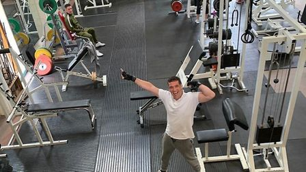 Adrian at Live Fit Gym where he trained in Manningtree. Picture: FLETCHER FEARN