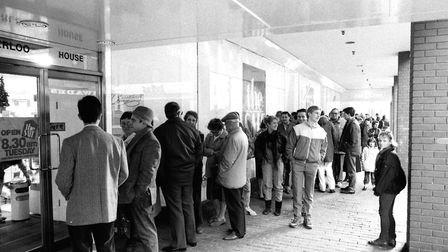 The queue to get into Debenhams for their Boxing Day sales Picture: DAVID KINDRED