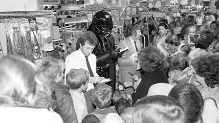 Debenhams went over to the dark side as they were visited by a certain Sith Lord Picture: ARCHANT ARCHIVE