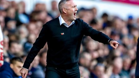 Paul Lambert, pictured during his first game in charge of Ipswich Town against Preston. Picture: STEVE WALLER...