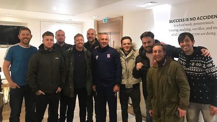 Paul Lambert invited a group of Ipswich Town fans to Playford Road early in his reign. Picture: BLUE ACTION