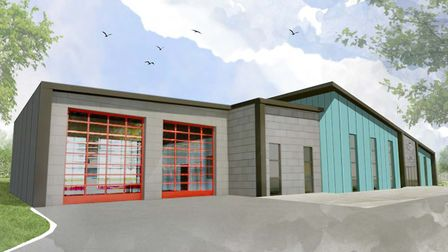 An artist's impression of what the new shared police and fire station in Stowmarket could look like. Picture: Picture...