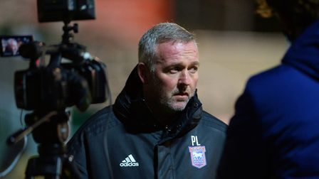 Paul Lambert, in a downbeat mood during his post-match interviews at Plymouth Argyle, despite a 2-1 away win. Picture...