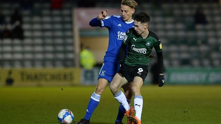 Luke Woolfenden made his 50th senior appearance for Ipswich Town at Plymouth last weekend. Photo: Pagepix Ltd