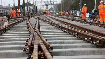 Network Rail engineers will be back at work at Colchester station over the Christmas and New Year period. Picture: NETWORK...
