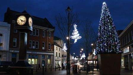 How Stowmarket town centre looks this Christmas