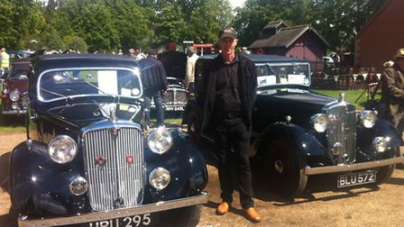 Glen Read with his vintage Rover 14 (left) and Rover 10