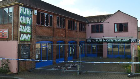The old fish and chip shop on Nunn's Way in Dereham. There was a fire at the building on May 22, 201