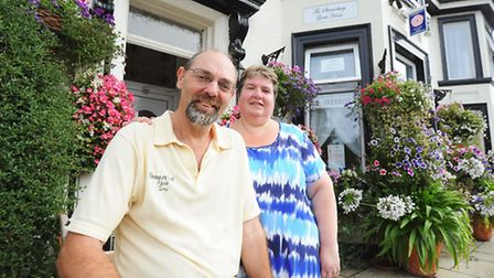 Sandie and Tony Stanley who run The Shrewsbury guesthouse in Great Yarmouth.Picture: James Bass