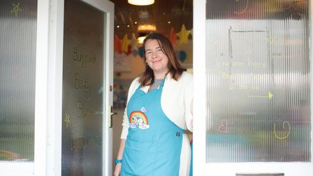Klaire Peck, founder of the Suffolk Baby Bank stood outside of one of her hubs