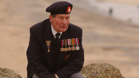 Normandy Veteran Phil Johnson refelects on the events of June 6th 1944.Picture: Nick ButcherCopy: S