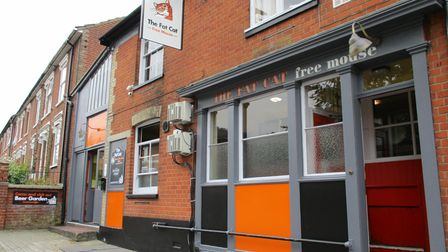 An exterior shot of The Fat Cat Pub in Ipswich