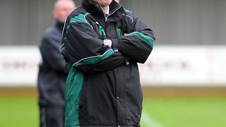 Richard Daniels in charge of Gorleston during a Ridgeons League match against Wisbech in 2011. Pictu