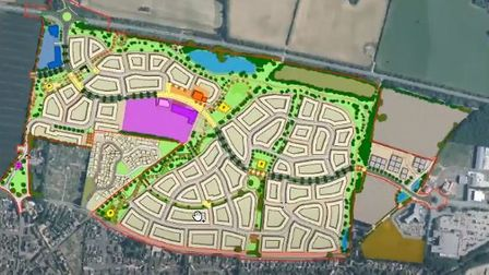 A plan of how the new Fakenhamdevelopment could look.