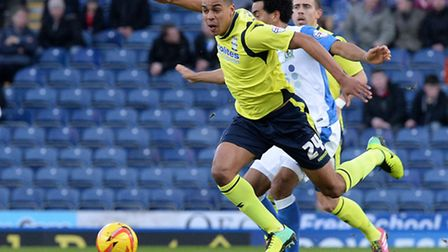 Birmingham City's Tom Adeyemi battles for the ball with Blackburn Rovers' Lee Williamson, during a S