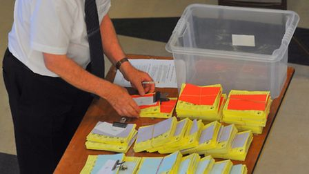 Ballot papers for the European elections are being counted around the region
